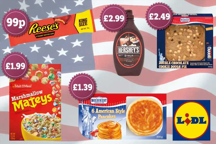 Lidl launches new USA food range including marshmallow cereal and a giant cookie dough pie