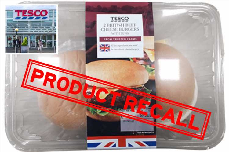 Tesco recalls cheese burgers because of undeclared sesame