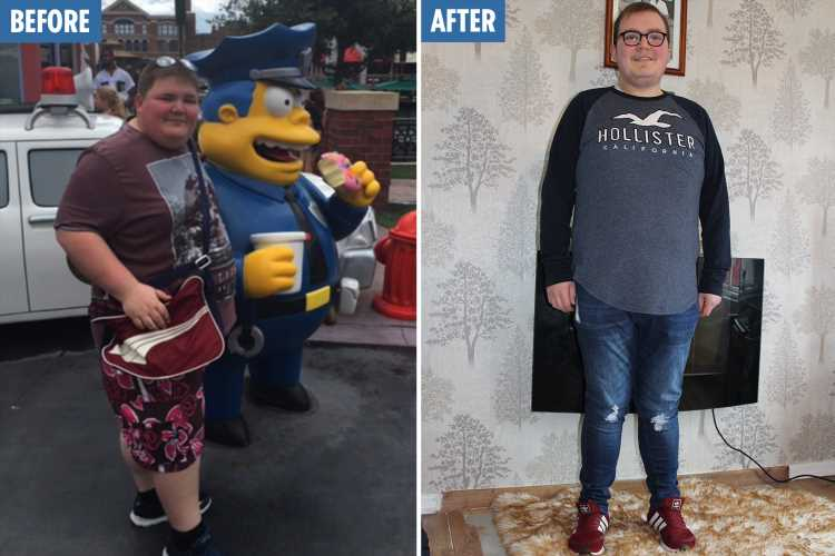 Man's incredible 10st weight loss without exercising – after comparing himself to Simpsons' Chief Wiggum – The Sun