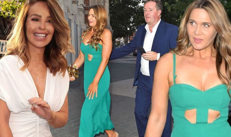 Piers Morgan's wife steals spotlight in busty look amid his 'second date' with Katie Piper
