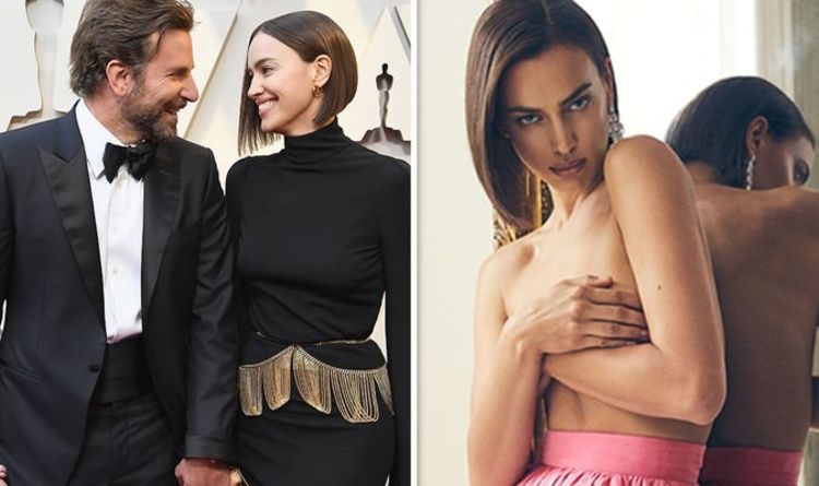 Irina Shayk poses topless as she addresses marriage after Bradley Cooper split