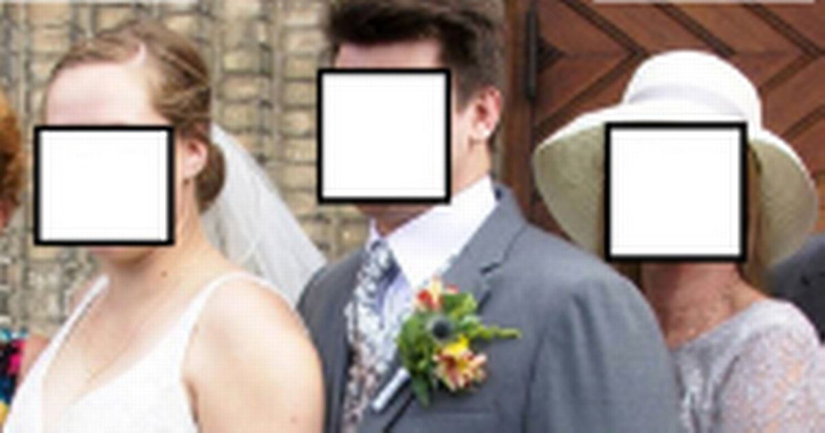 Mother of groom branded 'creepy' for awkwardly 'spooning' son in wedding photo