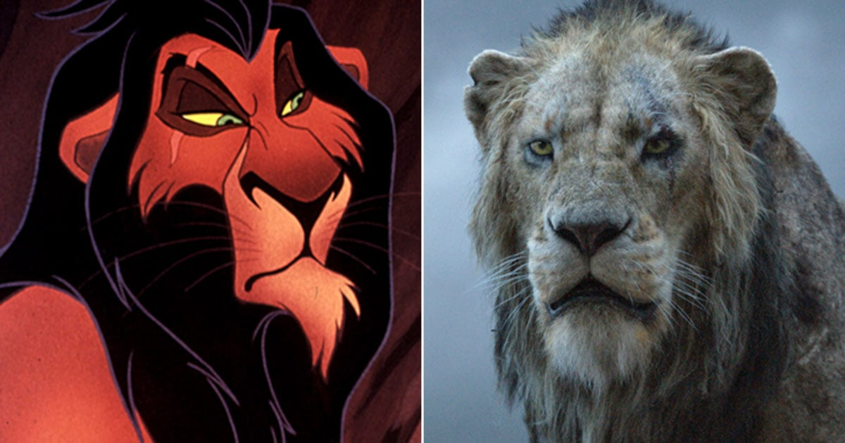 "See What the ""Live-Action"" Lion King Characters Look Like Next to Their Cartoon Counterparts"