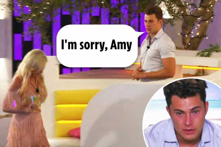 Love Island viewers in hysterics as Curtis keeps repeating 'I'm sorry, Amy' throughout the show – The Sun