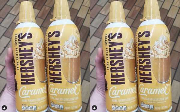 Hershey's Launched A Caramel Whipped Cream & The Dessert Combos Are Endless