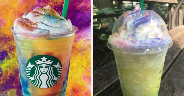 I Tried Starbucks's New Tie-Dye Frappuccino And Here's What I Thought