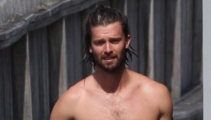 Shirtless Patrick Schwarzenegger Shows Off Hot Body on Vacation!