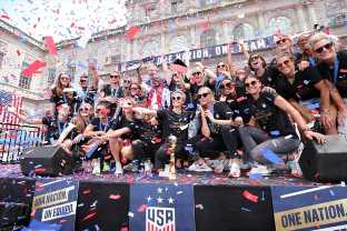 The US Women's Soccer Team Used Their Victory Parade As A Platform To Fight For Equal Pay