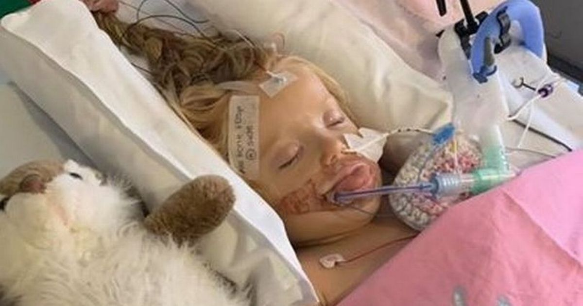 Mum's terror after daughter, 5, suffers stroke while at play centre with sister
