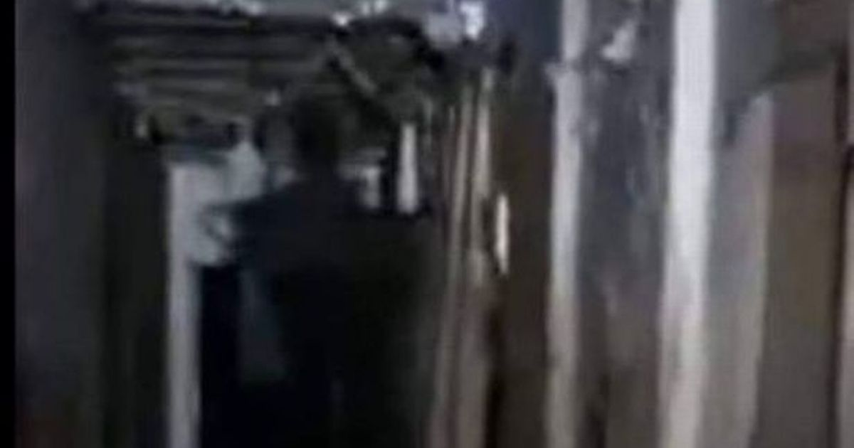 Chilling moment dark figure seen lurking in shadows during live ghost hunt