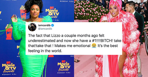 Cardi B Just Congratulated Lizzo On Her #1 Single And I Personally Feel So Empowered