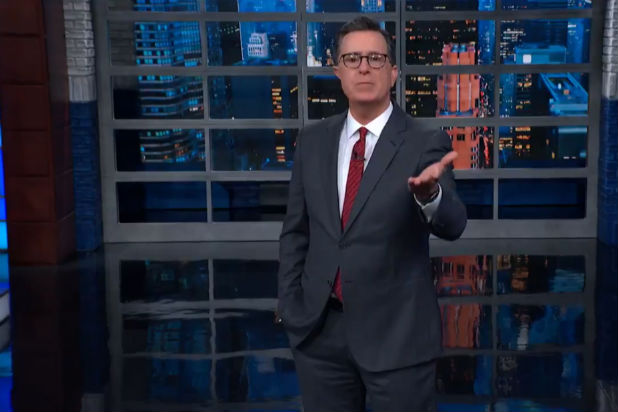 Colbert Channels Trump to Describe Ukraine Scandal: 'The News Has Been Moving on Us Like a B—-' (Video)