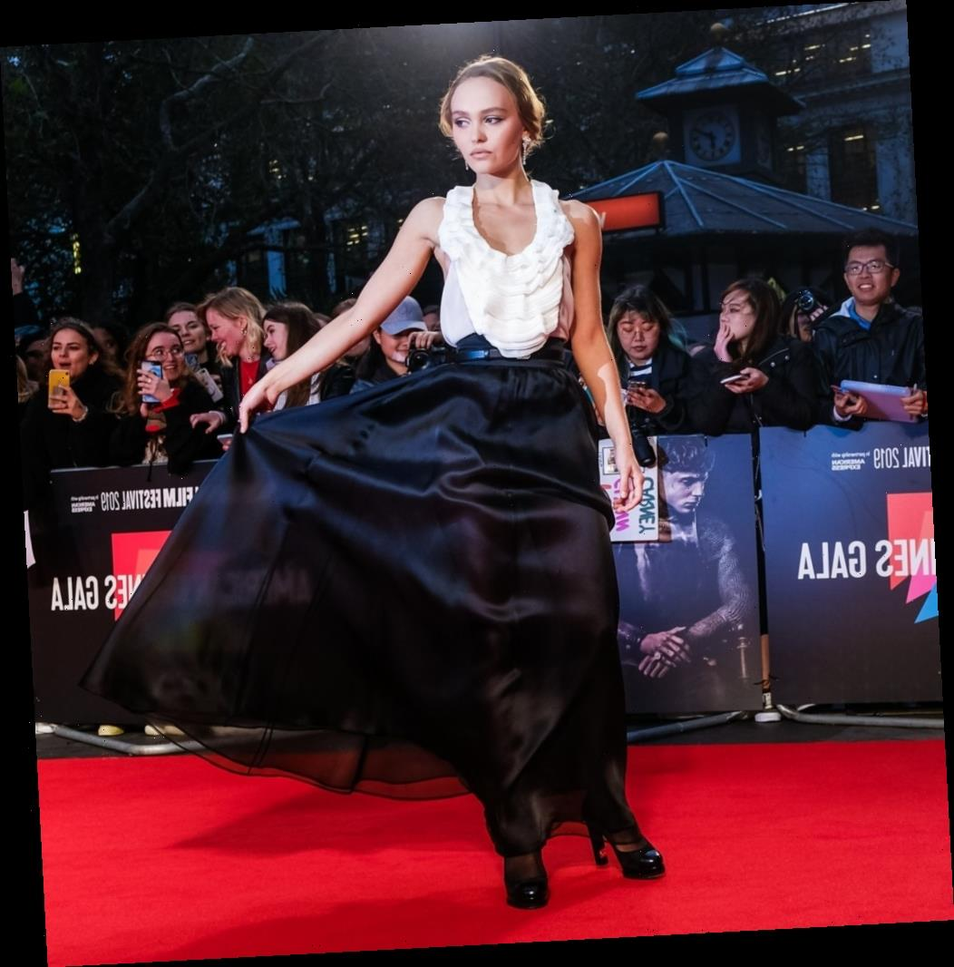 Lily-Rose Depp wears Chanel, Timothee Chalamet wears LV to 'The King' premiere