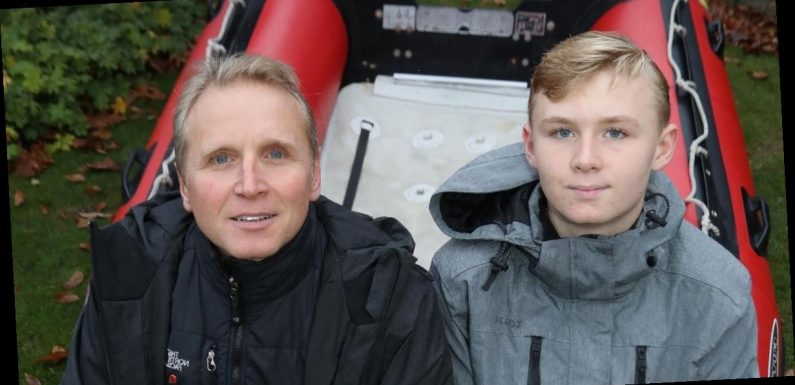 Hero teacher and son use rubber dinghy to save 20 people from horror floods