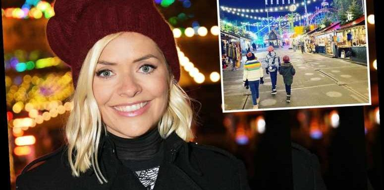 Holly Willoughby shocks fans with rare family snap at 'empty' Winter Wonderland and ask if they shut it down for her – The Sun