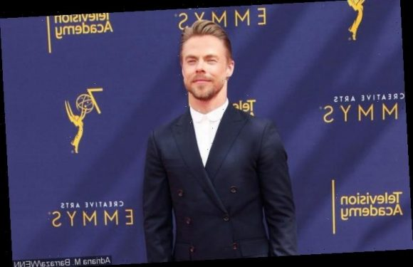 Derek Hough Explains Why He Has to Pull Back a Bit During Christmas Tree Lighting Performance
