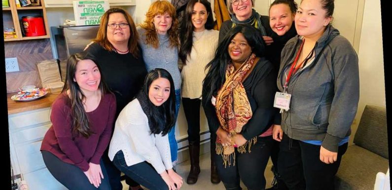 Meghan Markle emerges from Megxit to have tea at women's center