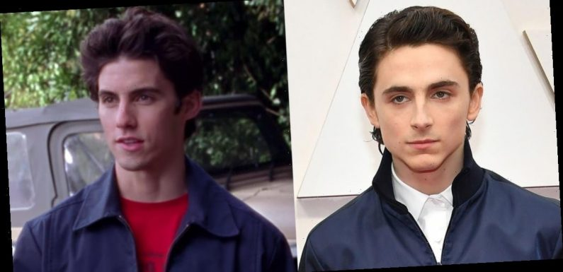 People think Timothée Chalamet's Oscars tracksuit makes him look like a gas station worker and Jess from 'Gilmore Girls'