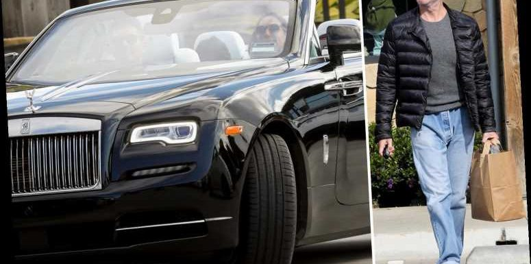 Simon Cowell shows off his weight loss as he picks up supplies in his convertible Rolls-Royce amid coronavirus pandemic