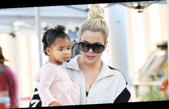 True Thompson, 1, Runs Around In A Colorful Outfit While Yelling For Mommy Khloe Kardashian