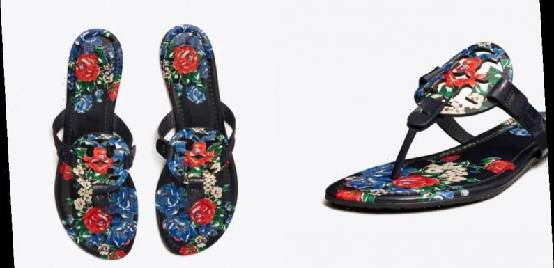 These Printed Tory Burch Miller Sandals Are on Sale for Under $150!