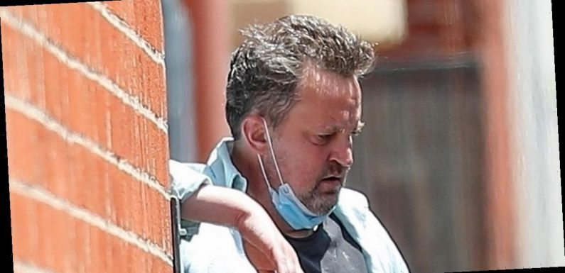 Matthew Perry follows Friends co-star Jennifer Aniston's advice as he sports face mask in Beverly Hills