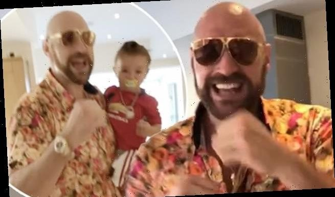 Tyson Fury uses the N-word while singing with his kids