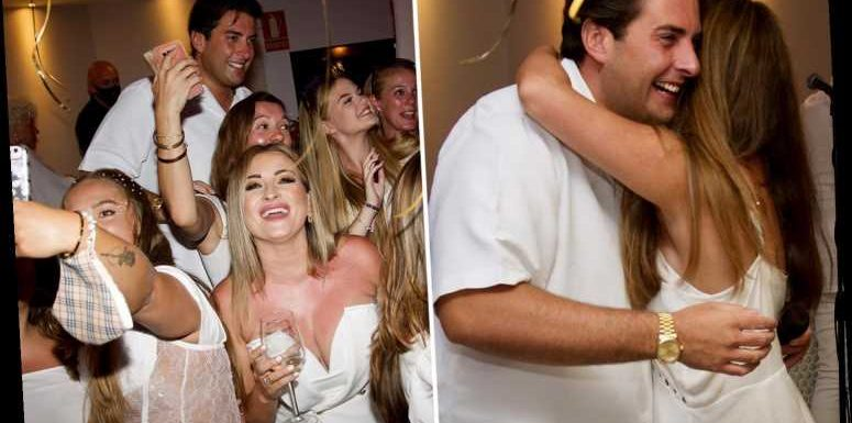 James Argent is surrounded by women who can't keep their hands off him in Malaga after Gemma Collins split