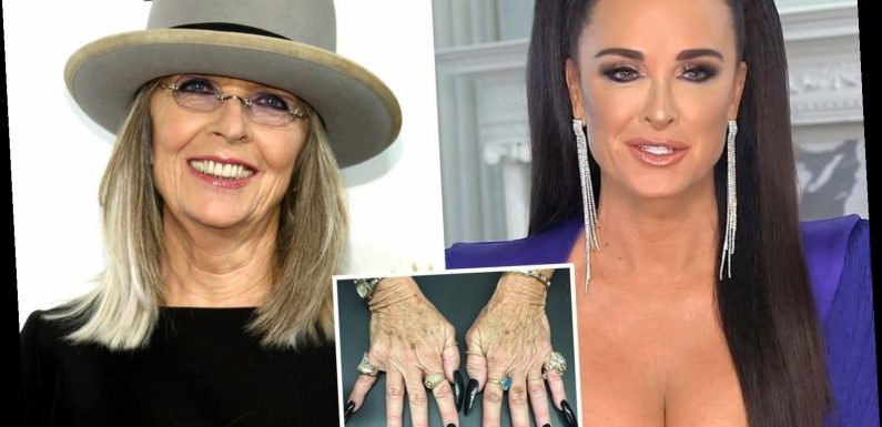 RHOBH's Kyle Richards spots her stolen ring on a psychic's hand in a photo shared by actress Diane Keaton