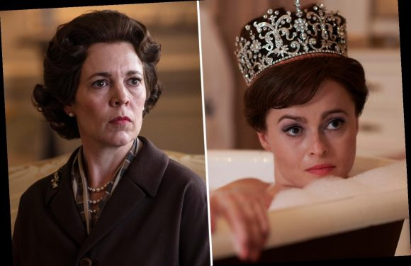 The Crown's Helena Bonham Carter reveals Olivia Coleman derailed scene by breaking down 'in lakes of tears' on set