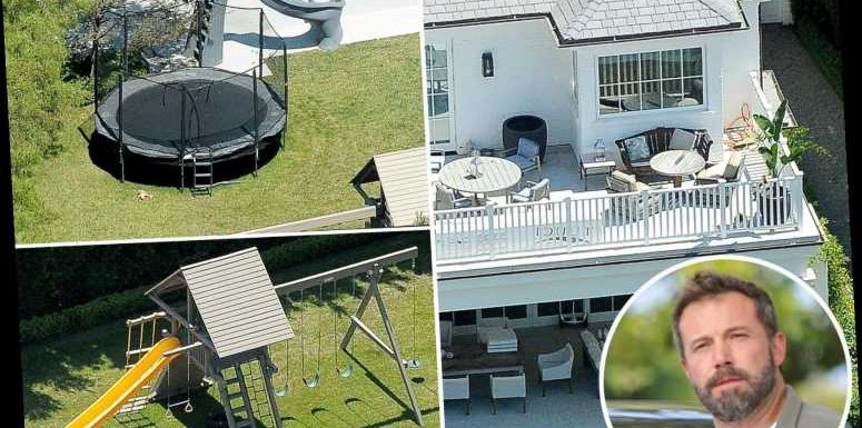 See Ben Affleck's $20M LA 'dad pad' mansion featuring a giant playset and trampoline