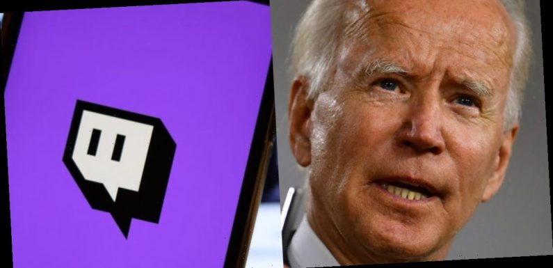 The Biden campaign is using streaming platform Twitch to broadcast lo-fi train footage between stops on his tour