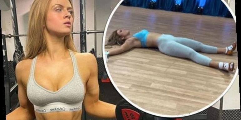 Maisie Smith: Strictly 2020 star crashes on the floor after training with Gorka Marquez