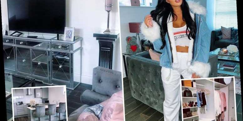 Inside Towie star Yazmin Oukhellou's incredible Essex home with walk-in wardrobe and chic all grey-decor