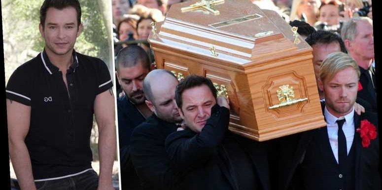 Boyzone slept on the church floor with Stephen Gately's coffin to keep him company and 'cried and laughed' with him