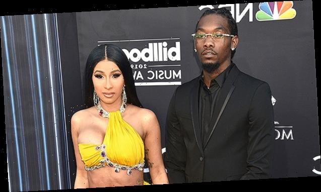 Cardi B & Offset Reunite At Strip Club & He Raves She Looks 'Scrumptious' In Little Red Dress