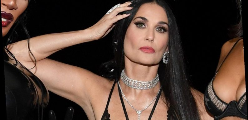 Demi Moore, 57, wears plunging bodysuit with fishnets at Rihanna's Savage x Fenty show