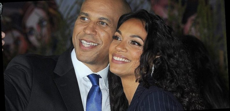 Cory Booker Opened Up About Moving in With Rosario Dawson