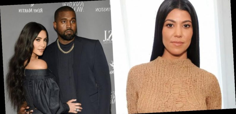Kourtney Kardashian appeared to endorse Kanye West's presidential run, advertising his campaign merch on her Instagram story