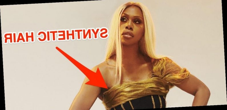 Laverne Cox's stylist created a daring gown for less than $150 using synthetic hair and a recycled corset