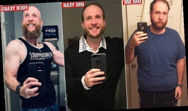 Recovering alcoholic marks four years sober with transformation photo