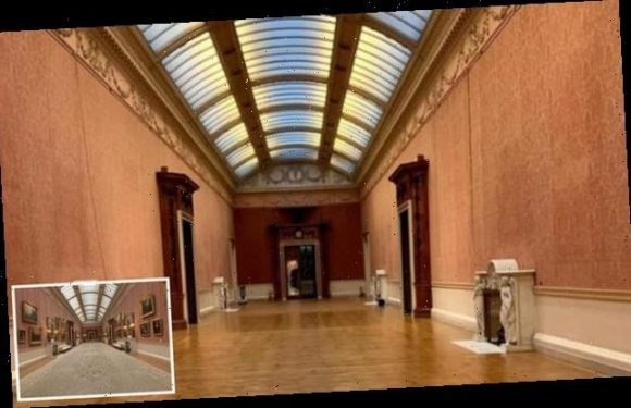 Buckingham Palace Picture Gallery is empty for first time in 45 years