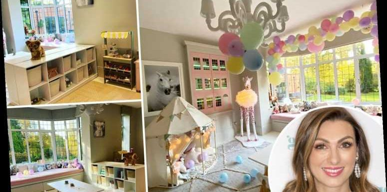 Inside Apprentice star Luisa Zissman's playroom transformation with HUGE dollhouse and TeePee tent