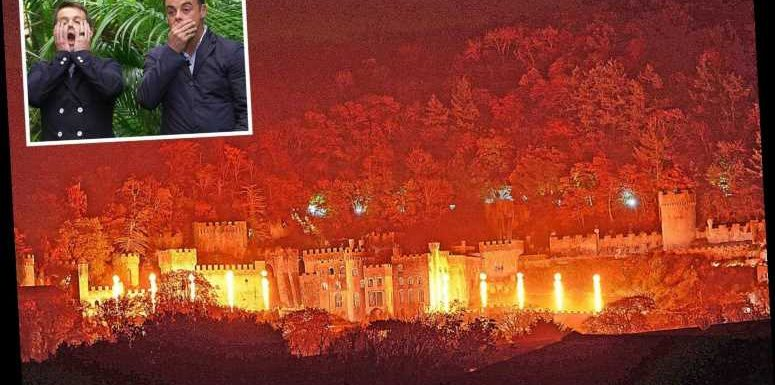 I'm A Celebrity castle is surrounded by 100ft ghostly figures as crew test special effects before Sunday's launch