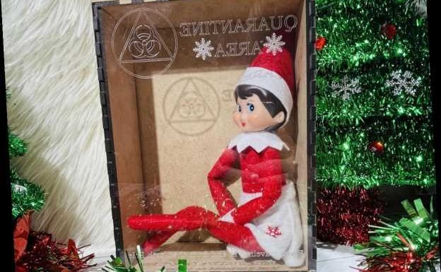 30 Instagram Captions For Elf On The Shelf In Quarantine Pictures & All The Elfies