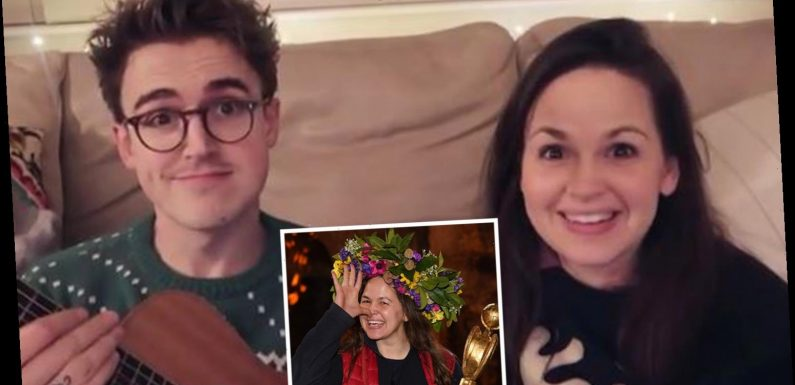 I'm A Celeb winner Giovanna Fletcher blows fans away with her singing voice as she joins husband Tom on Christmas song