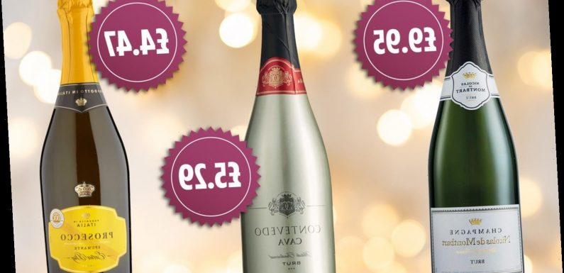 Cheapest champagne, cava and prosecco deals for New Year's Eve 2020