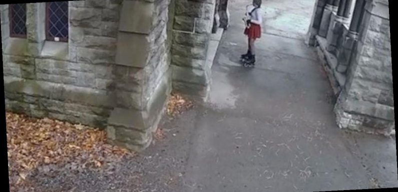 Graveyard 'ghosts' serenaded by mysterious saxophone-playing woman in CCTV