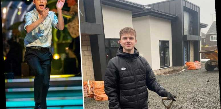 Strictly's HRVY, 21, shows off his incredible new mansion as he gets to work on the building site