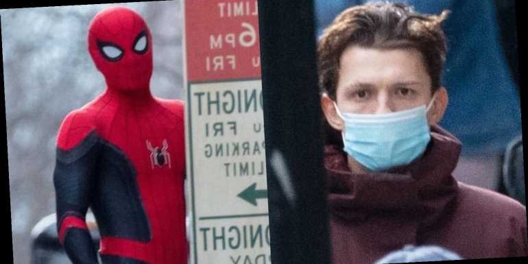 Tom Holland Suits Up While Filming 'Spider-Man 3′ in Atlanta!